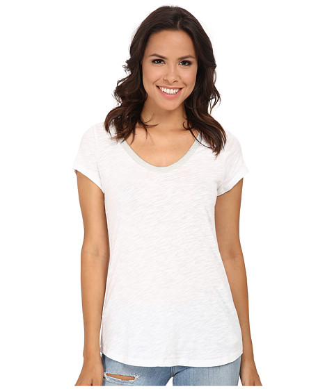 Dylan by True Grit - Vintage Bead Short Sleeve Tee (White) Women