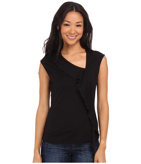 Anne Klein - Milano Asymmetric Ruffle Blouse (Black) Women