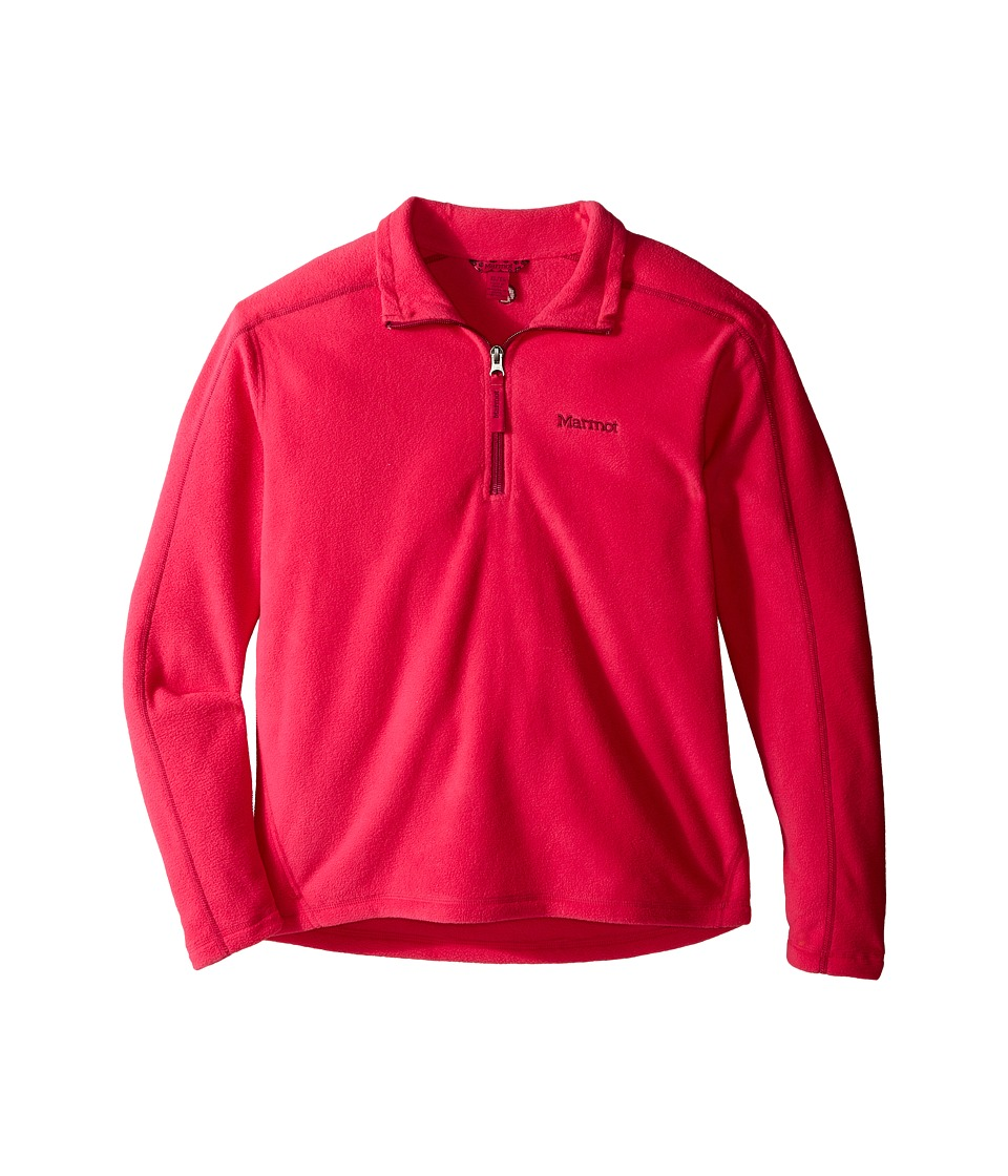 Marmot Kids - Girl's Rocklin 1/2 Zip (Little Kids/Big Kids) (Gypsy Pink) Girl's Clothing