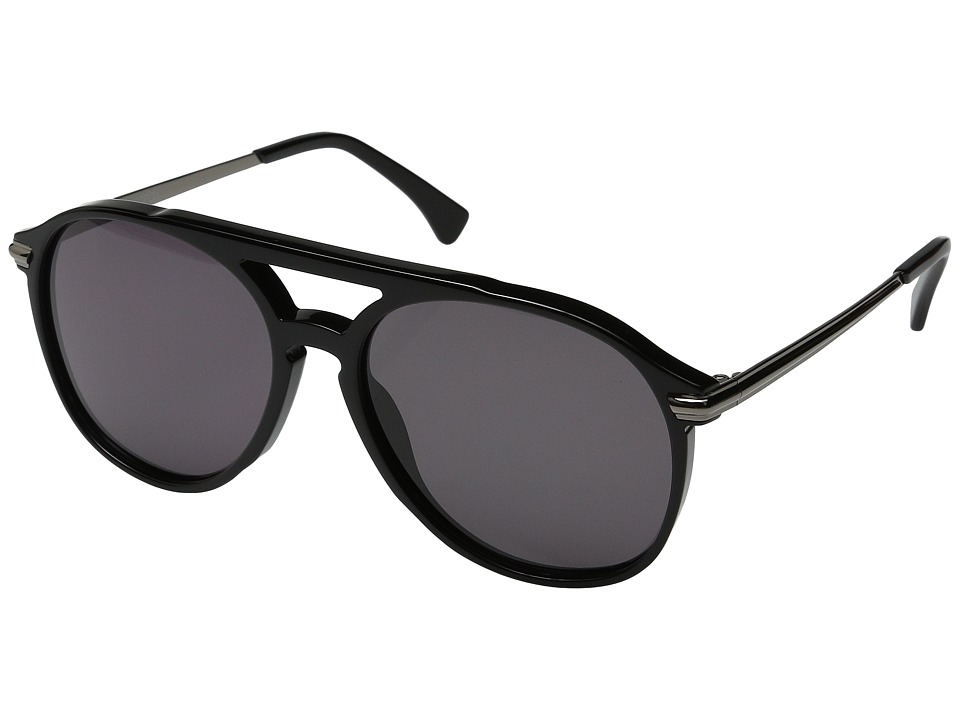 Wildfox - Baroness (Black Gunmetal/Grey Sun) Fashion Sunglasses
