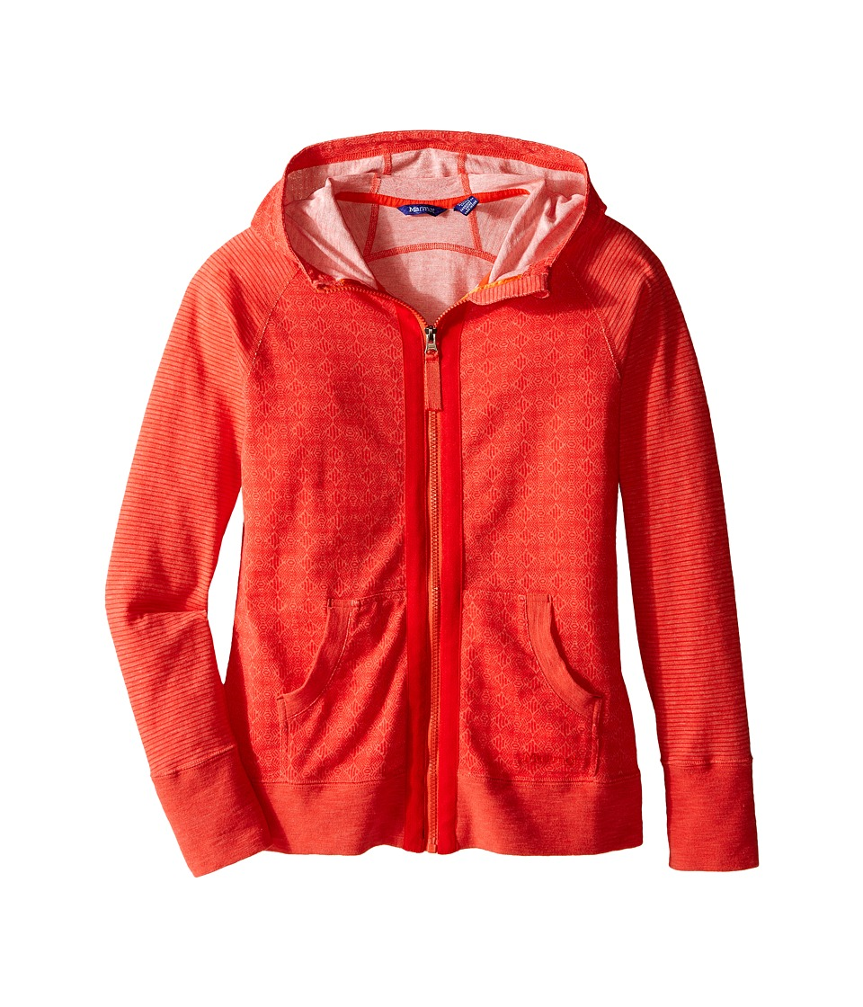 Marmot Kids - Sadie Hoodie (Little Kids/Big Kids) (Red Apple) Girl's Sweatshirt