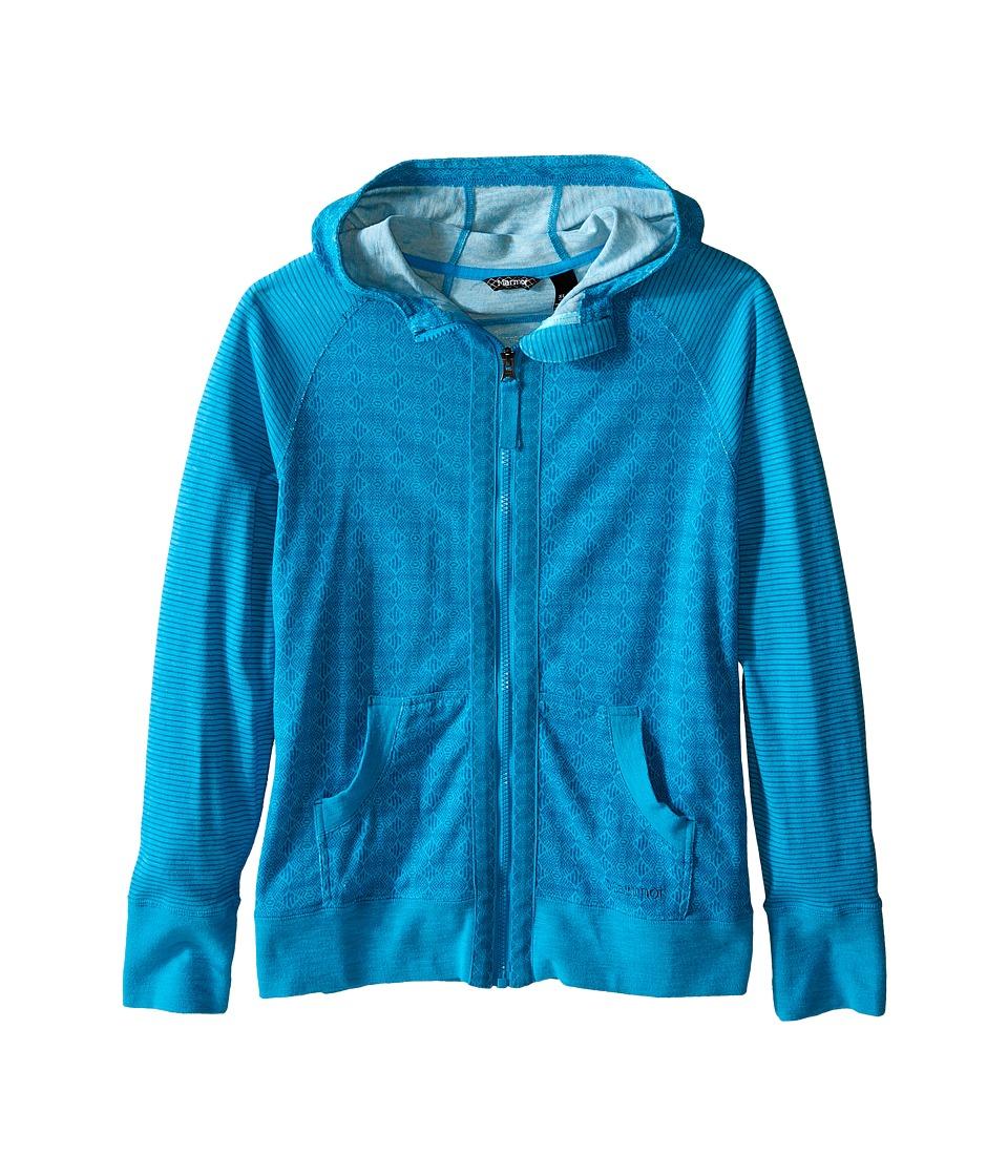 Marmot Kids - Sadie Hoodie (Little Kids/Big Kids) (Blue Sea) Girl's Sweatshirt