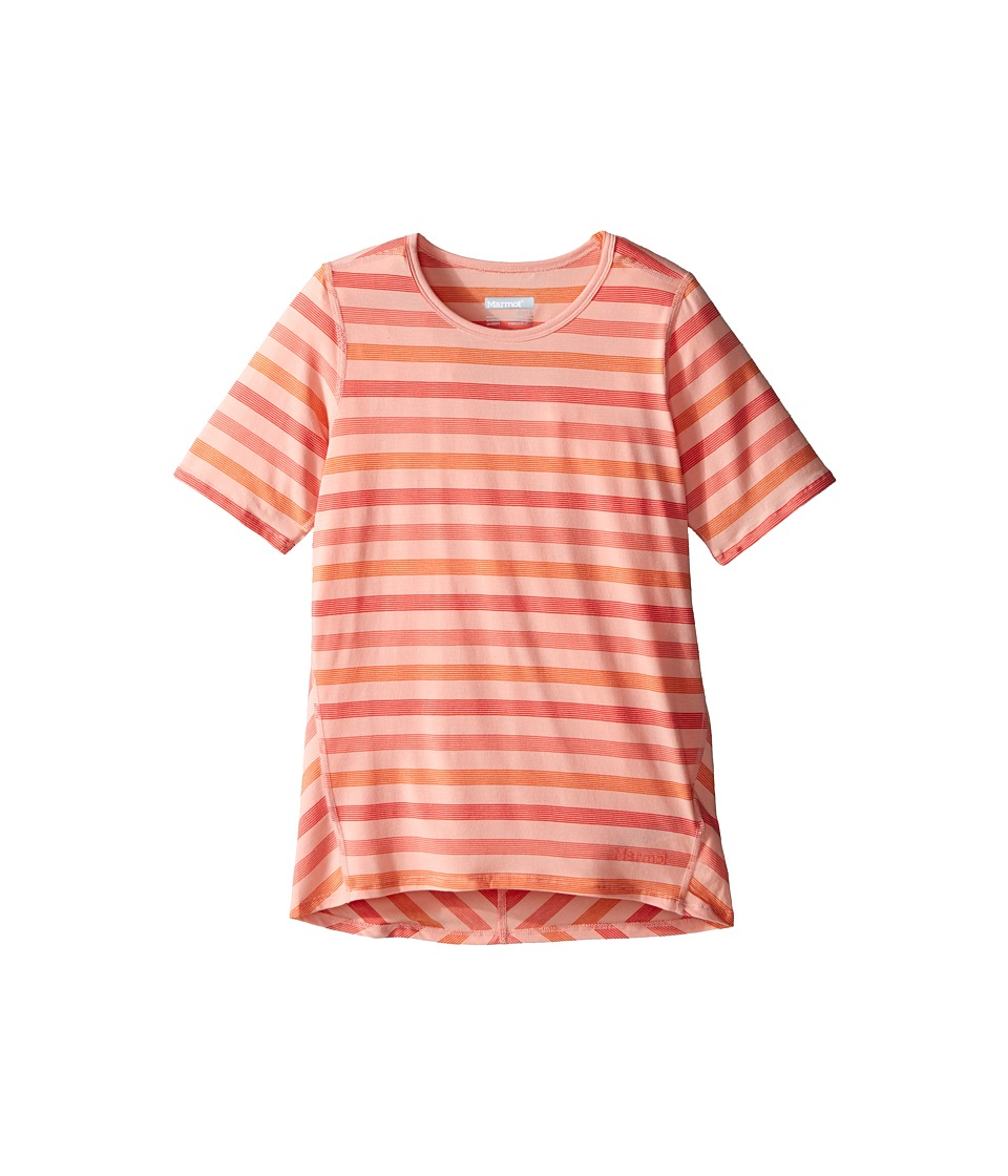 Marmot Kids - Gracie S/S Top (Little Kids/Big Kids) (Emberglow) Girl's Short Sleeve Pullover