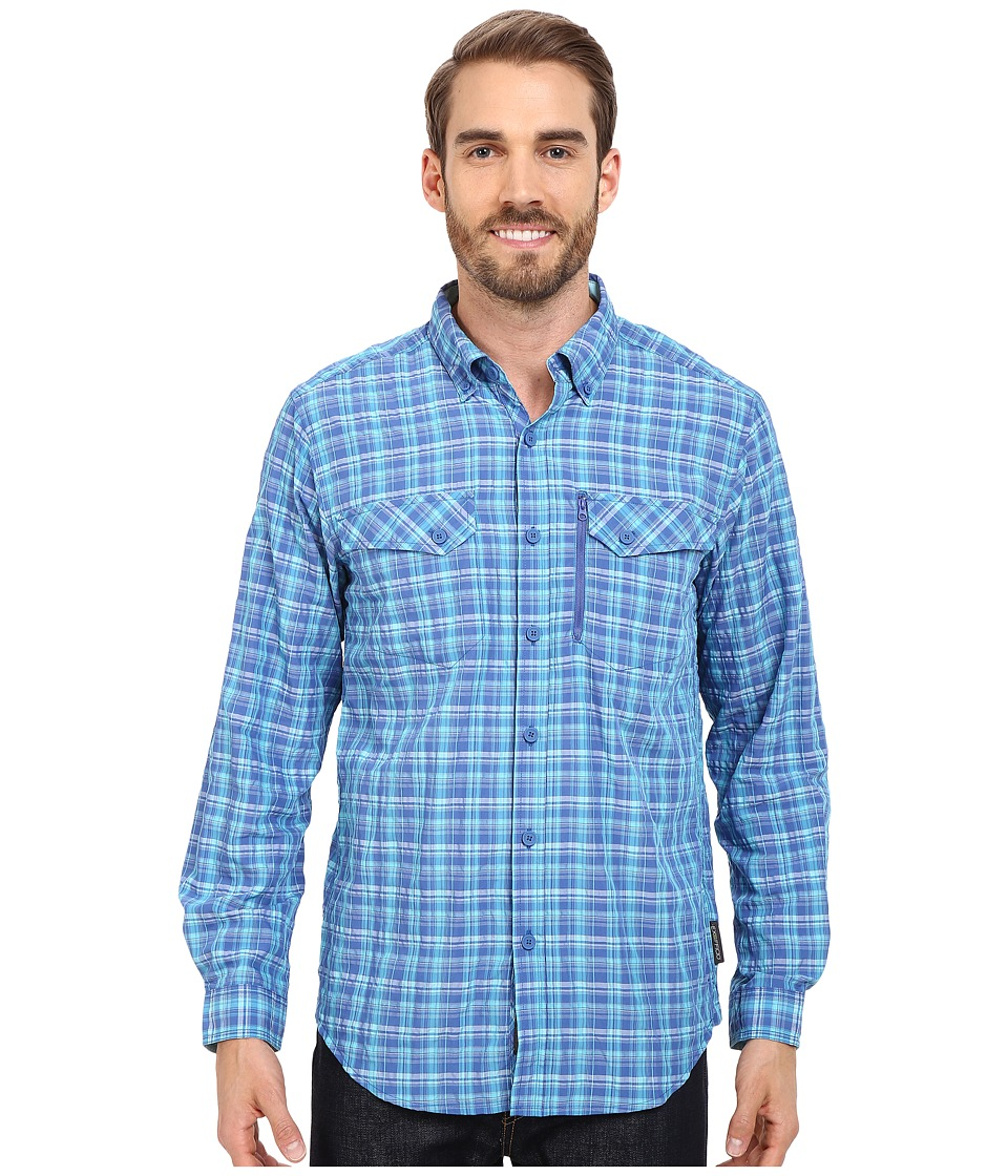ExOfficio - Sol Cool Cryogen Plaid Long Sleeve Shirt (Prussian) Men's Long Sleeve Button Up