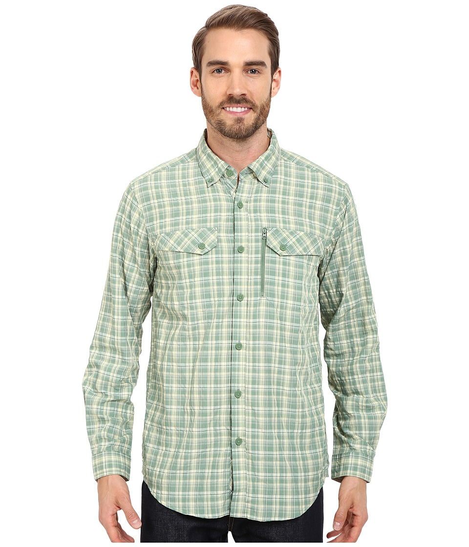 ExOfficio - Sol Cool Cryogen Plaid Long Sleeve Shirt (Hops) Men's Long Sleeve Button Up