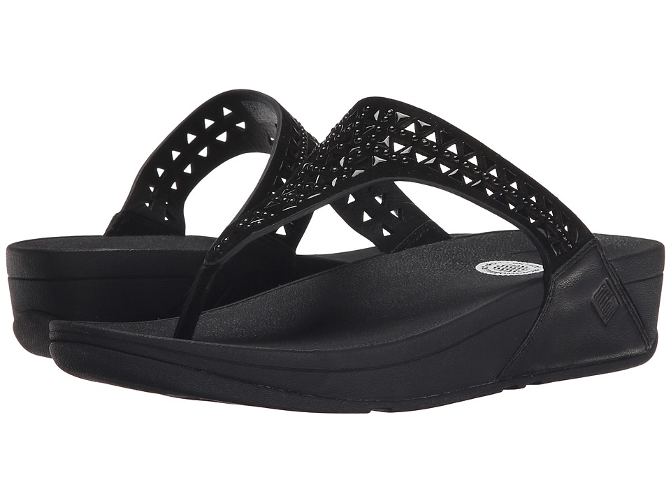 FitFlop - Carmel Toe Post (All Black) Women's Sandals