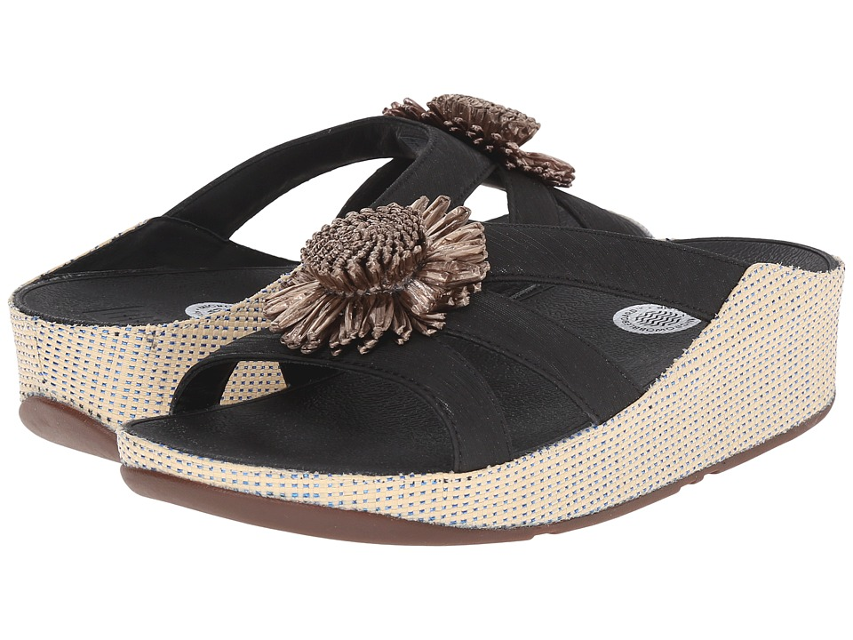 FitFlop - Rosita Slide (Black) Women's Slide Shoes