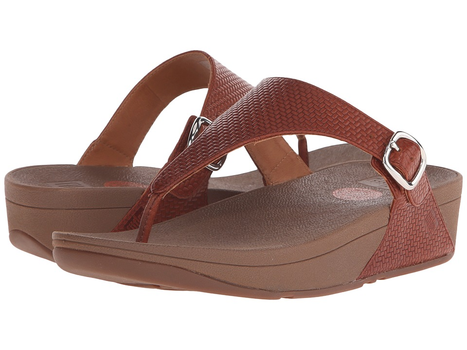 FitFlop - The Skinny (Dark Tan(Textured)) Women's Sandals
