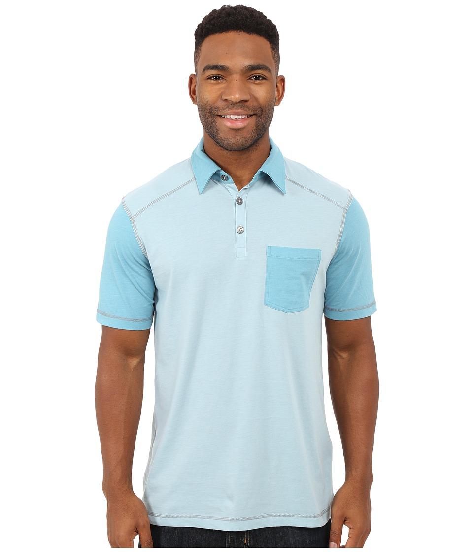 Ecoths - Hayden Polo (Light Blue) Men's Short Sleeve Knit
