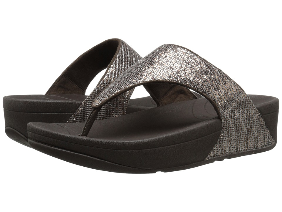 FitFlop - Lulu Superglitz (Bronze) Women's Sandals