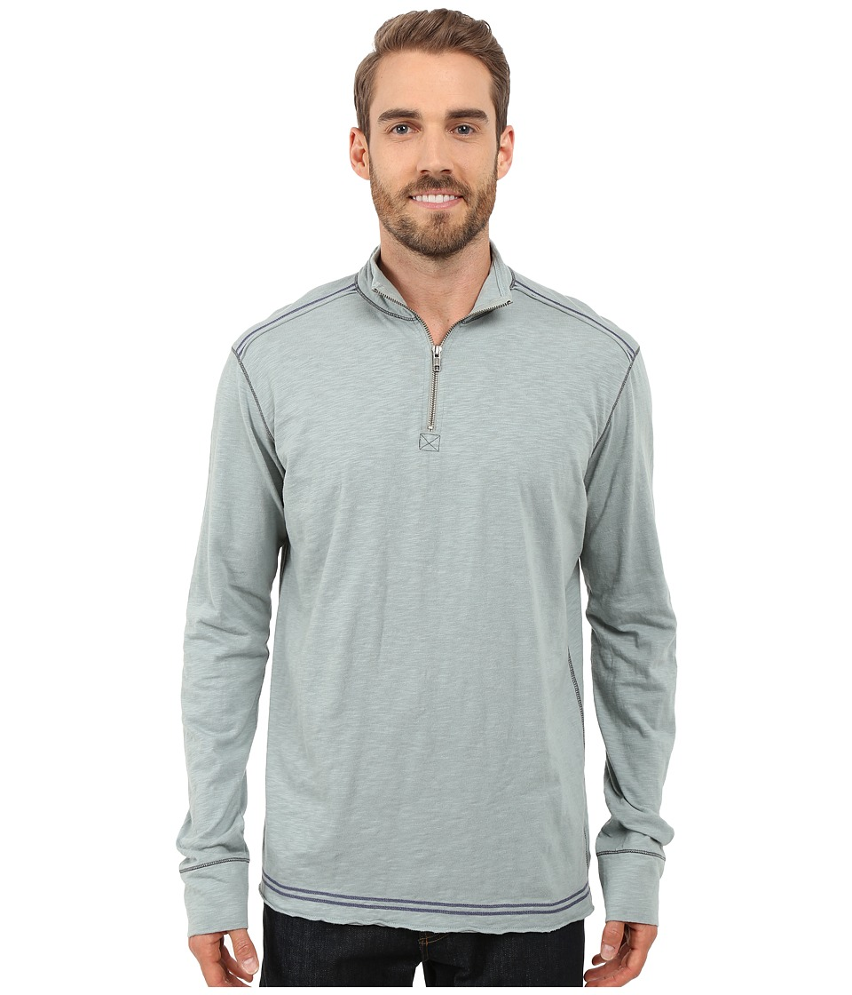 Ecoths - Black Rock 3/4 Zip Shirt (Silver Blue) Men's Long Sleeve Pullover