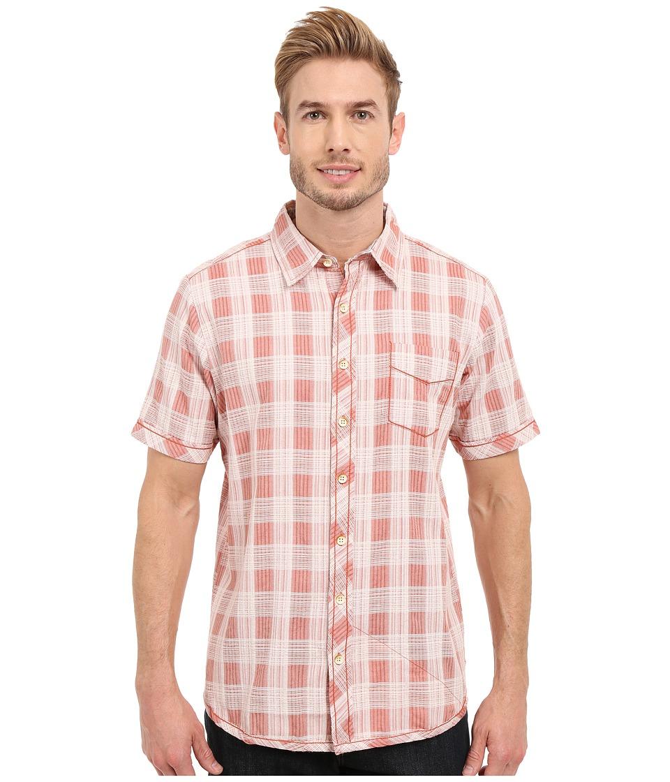 Ecoths - Deacon Short Sleeve Shirt (Langoustino) Men's Short Sleeve Button Up