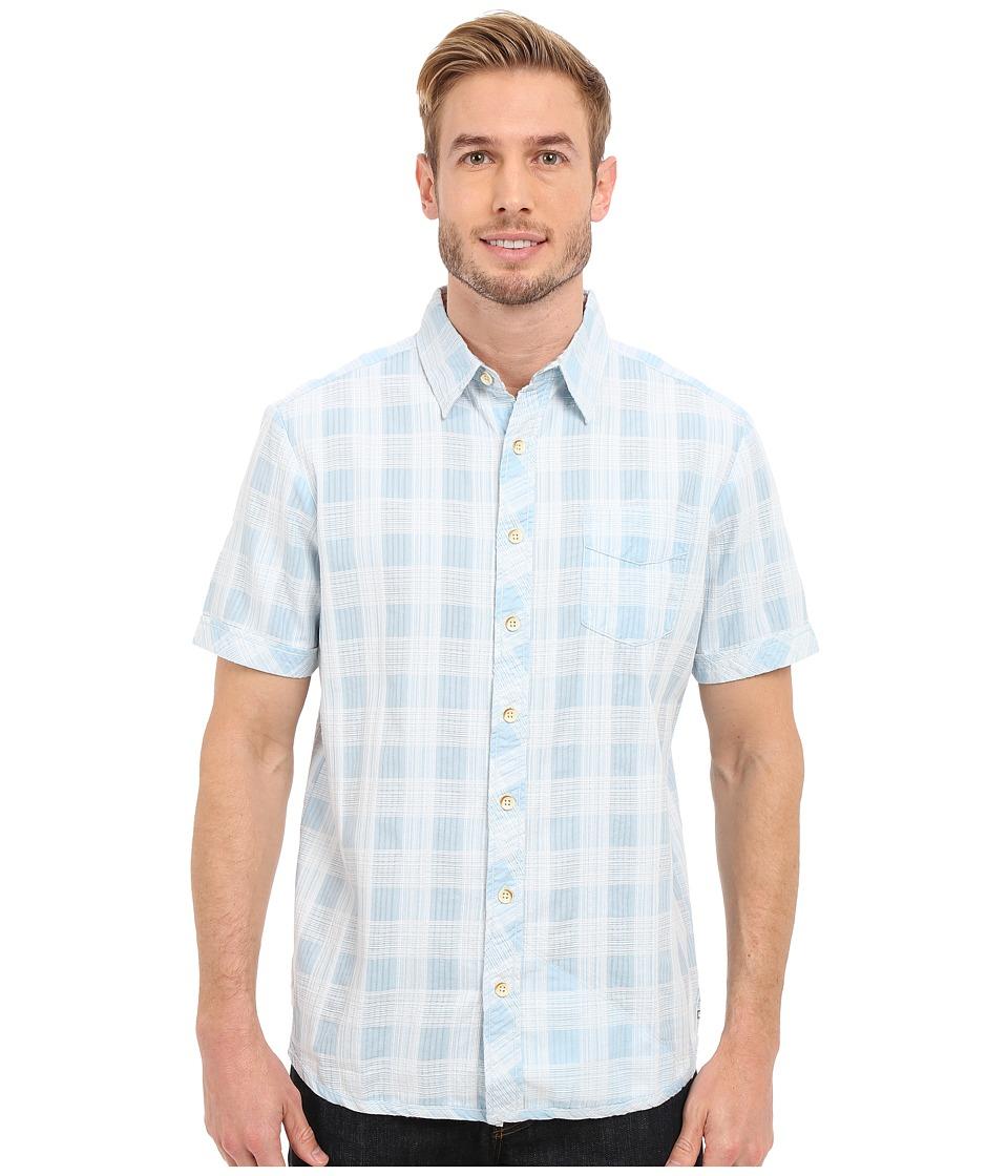 Ecoths - Deacon Short Sleeve Shirt (Light Blue) Men's Short Sleeve Button Up