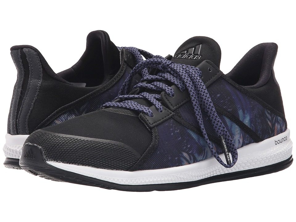 adidas - Gymbreaker Bounce (Black/Night Metallic/Super Purple) Women's Cross Training Shoes