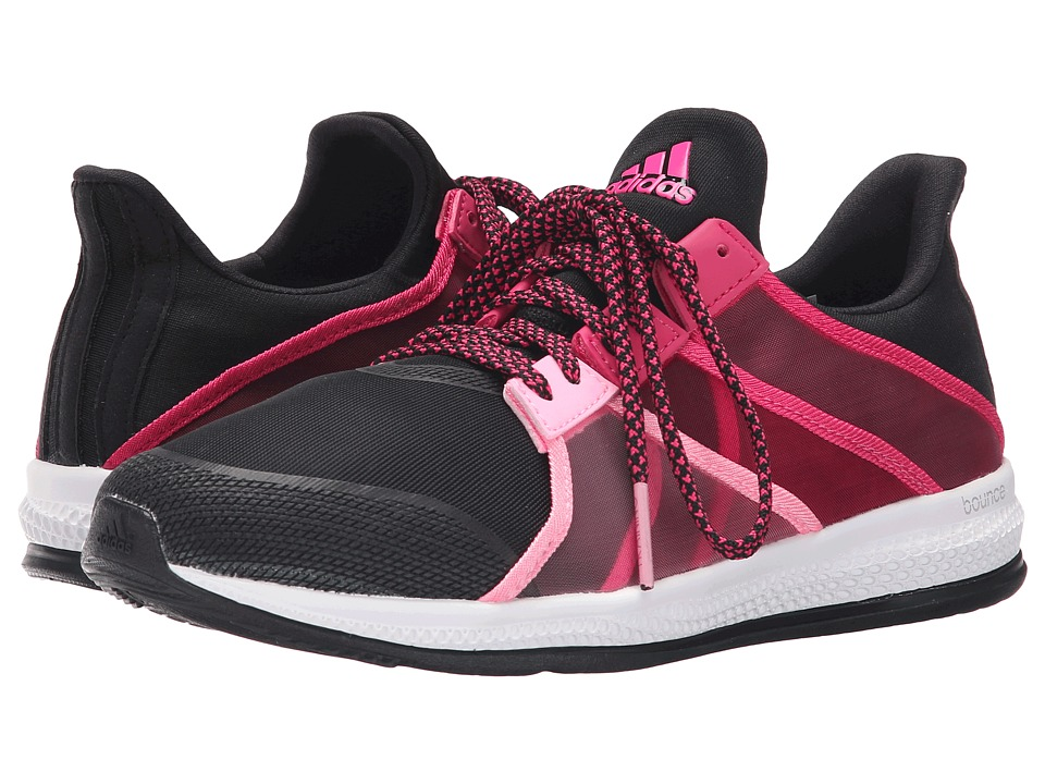 adidas - Gymbreaker Bounce (Black/Matte Silver/Shock Pink) Women's Cross Training Shoes
