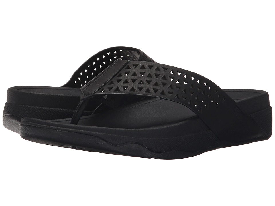 FitFlop Lattice Surfatm (All Black) Women