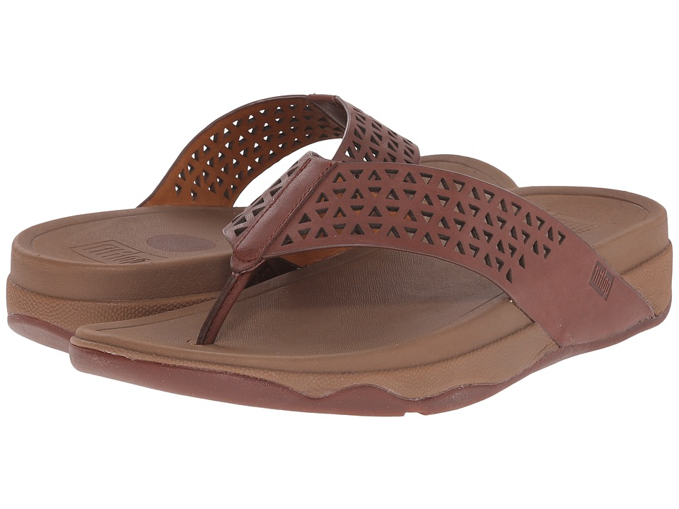 FitFlop - Lattice Surfa (Dark Tan) Women's Sandals