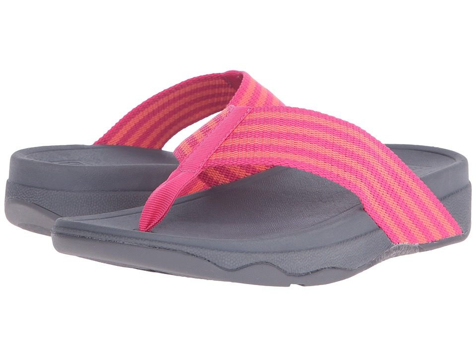 FitFlop - Surfa (Bubblegum/Hot Peach) Women's Sandals