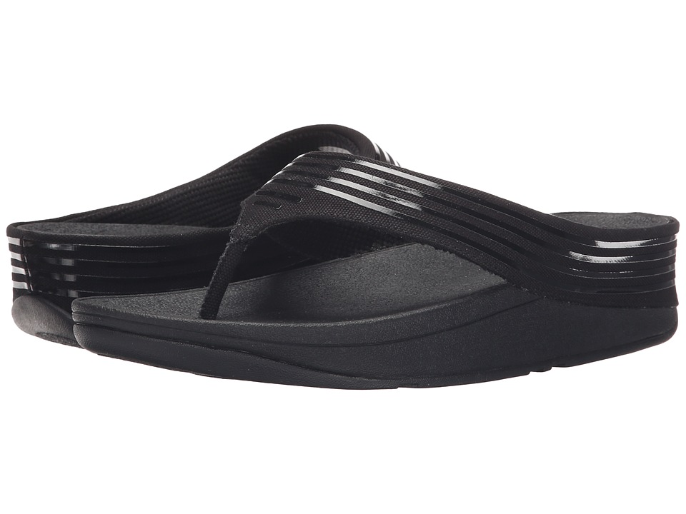 FitFlop - Ringer Toe Post (All Black) Women's Sandals