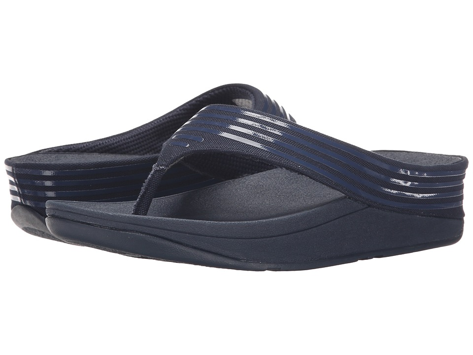 FitFlop - Ringer Toe Post (Supernavy) Women's Sandals