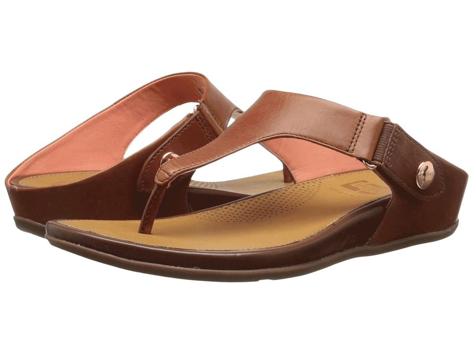 FitFlop - Gladdie Toe Post (Dark Tan) Women's Sandals