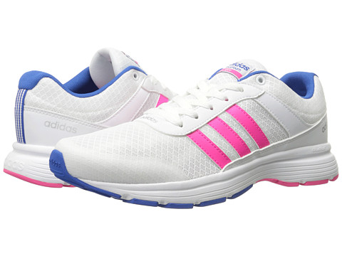 adidas - Cloudfoam VS City (White/Shock Pink/Blue) Women's Running Shoes