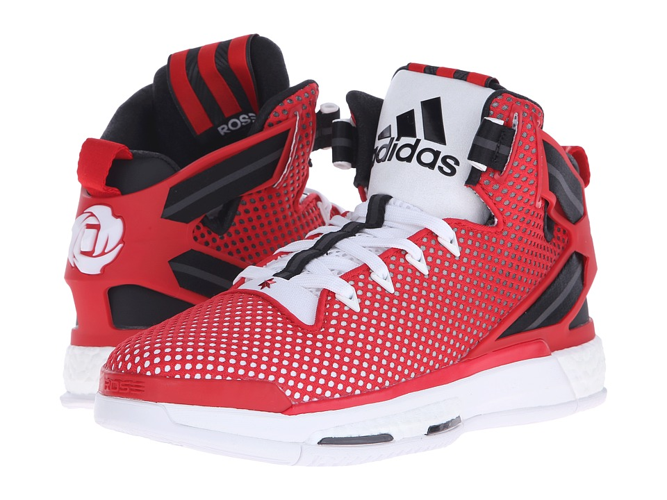 adidas - Derrick Rose 6 Boost (Scarlet/Core Black/WHite) Men's Basketball Shoes