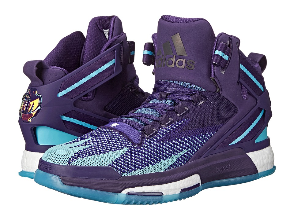 adidas - Derrick Rose 6 Boost (Purple/Purple/Shock Pink) Men's Basketball Shoes