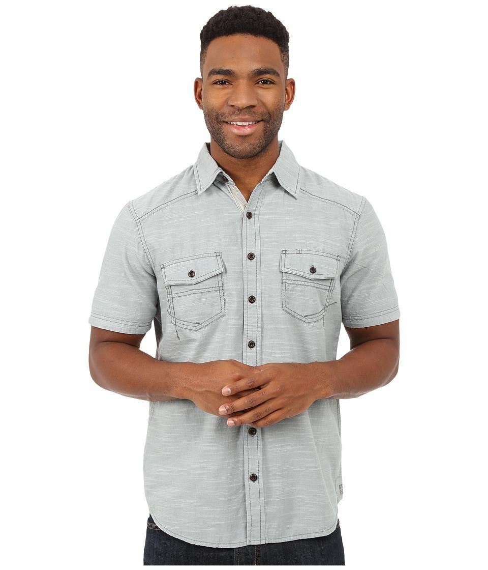 Ecoths - Soren Short Sleeve Shirt (Silver Blue) Men's Short Sleeve Button Up