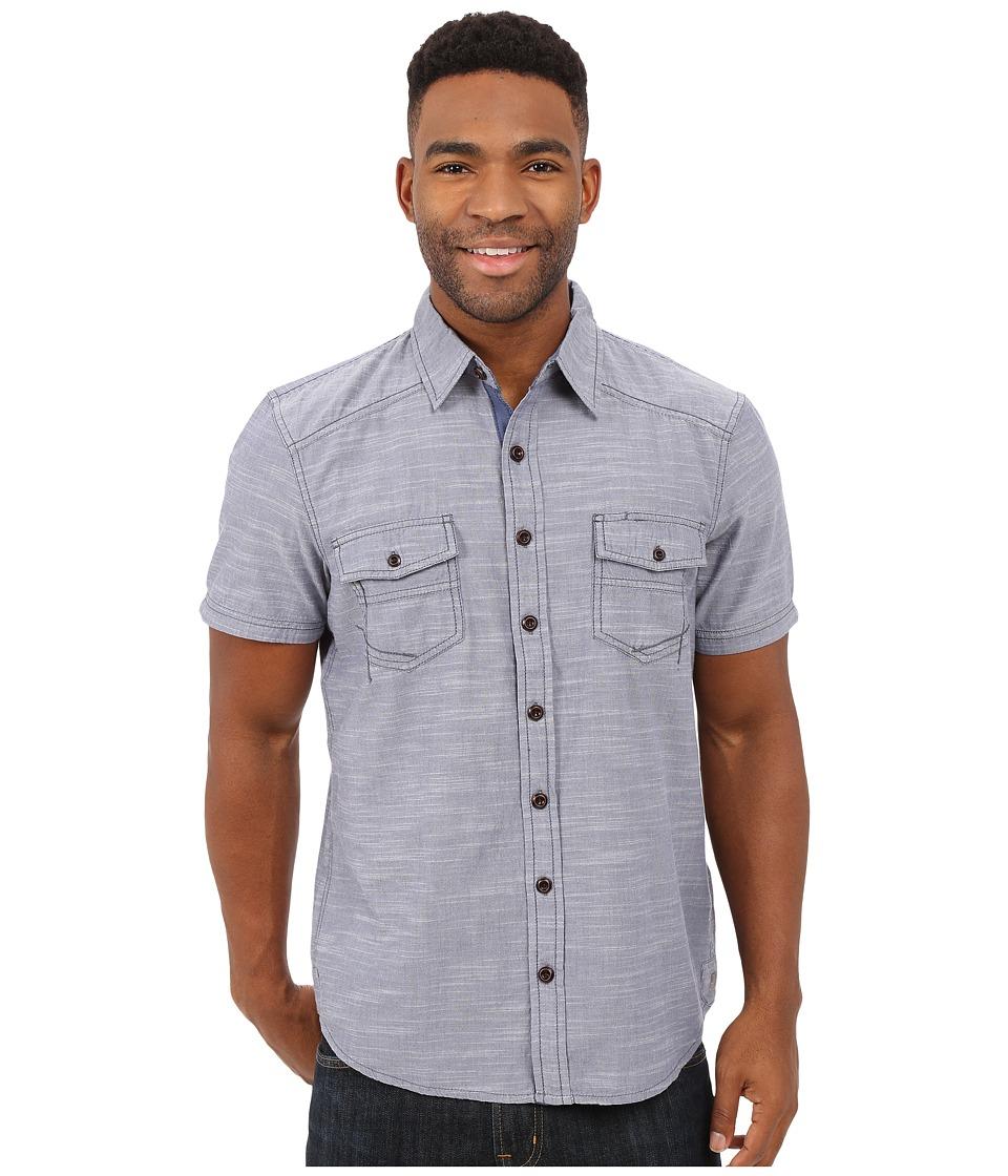 Ecoths - Soren Short Sleeve Shirt (Nightshadow) Men's Short Sleeve Button Up