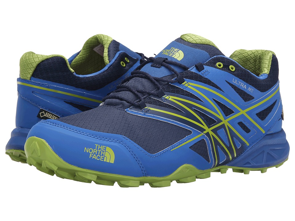 The North Face - Ultra MT GTX (Blue Quartz/Macaw Green) Men's Shoes