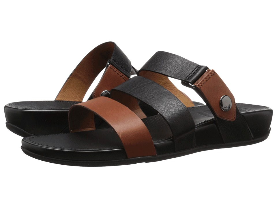 FitFlop - Gladdie Slide (Black/Tan) Women's Sandals