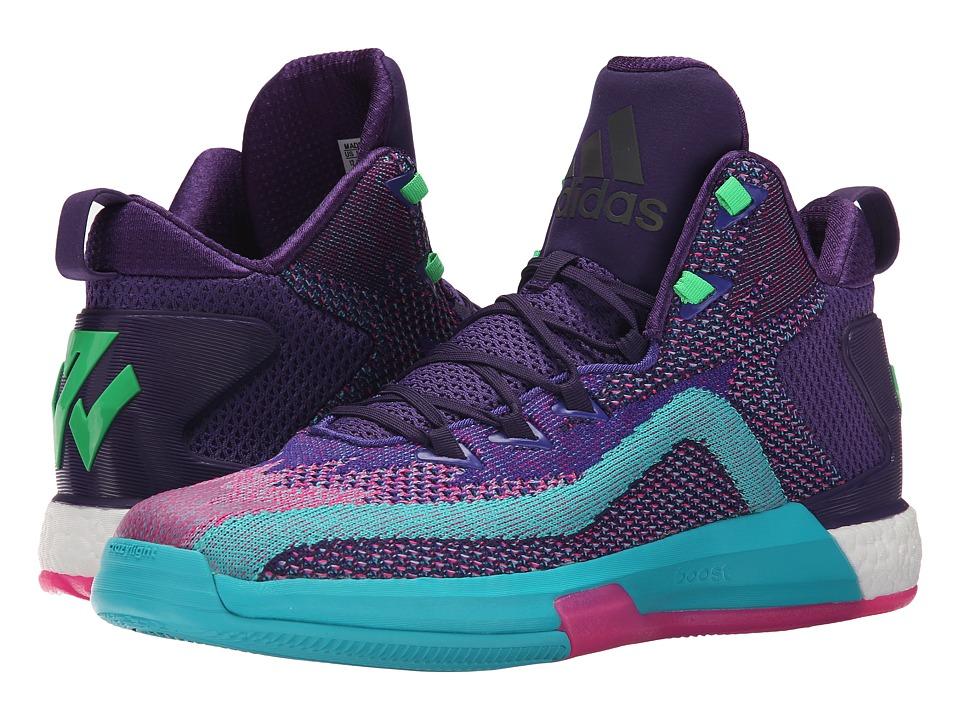 adidas - John Wall 2 (Dark Purple/Blast Purple/Shock Pink) Men's Basketball Shoes
