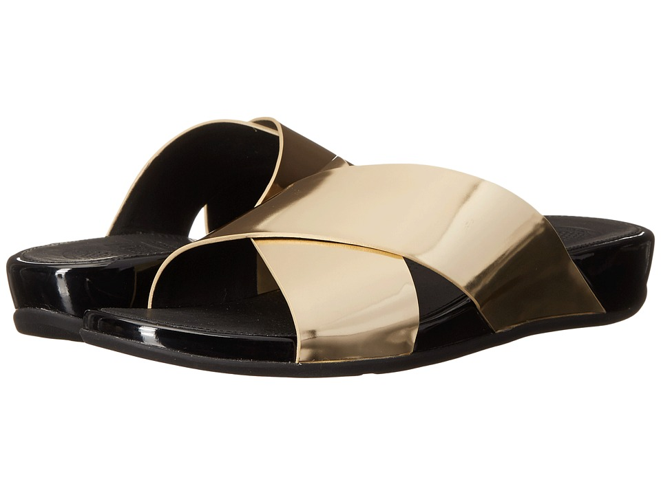 FitFlop - Aix Slide (Pale Gold) Women