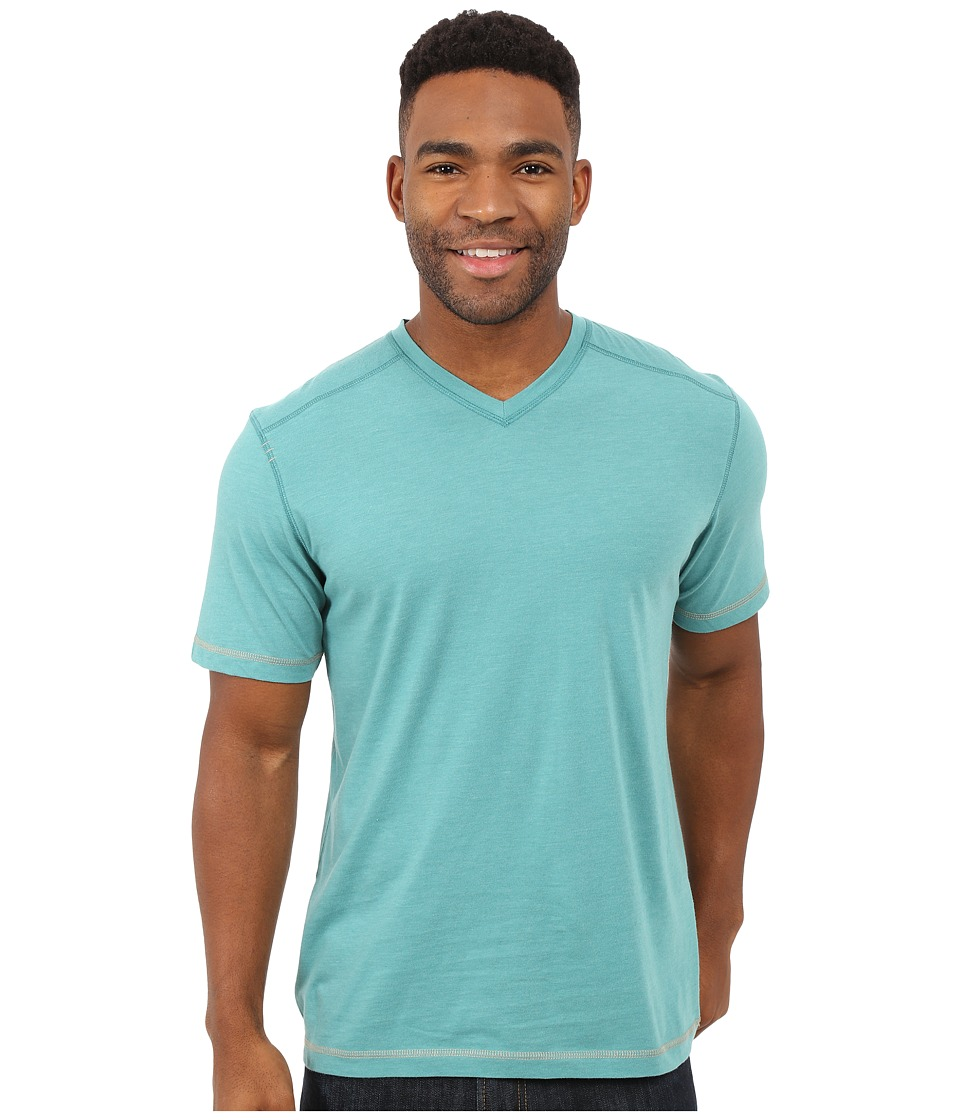 Ecoths McKinney V-Neck Tee Teal Mens T Shirt