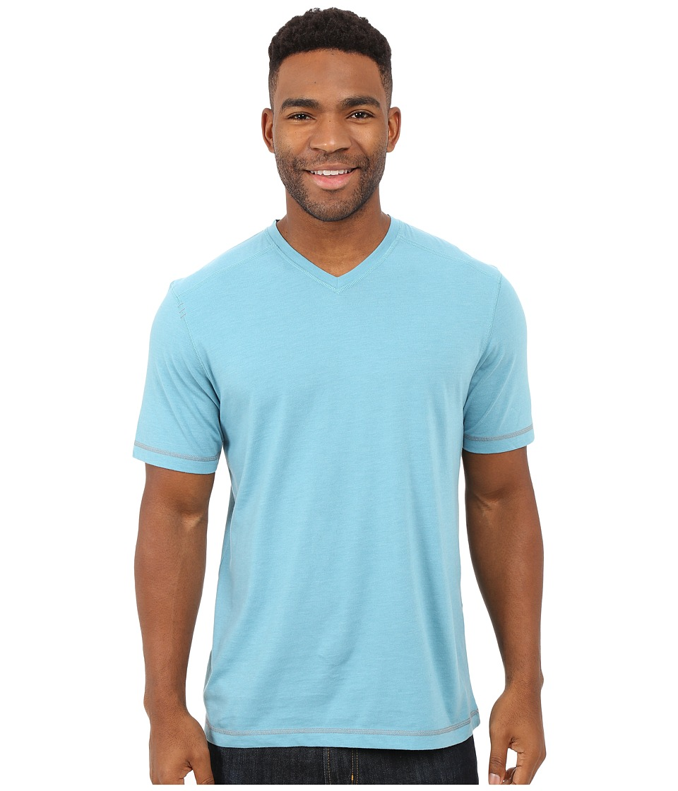 Ecoths - McKinney V-Neck Tee (Glacier Blue) Men's T Shirt