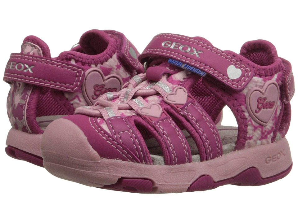 Geox Kids - Baby Sandal Multy Girl 1 (Toddler) (Fuchsia/Pink) Girl