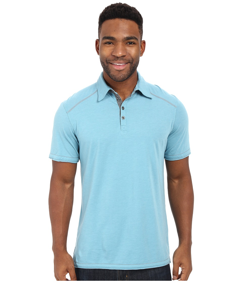 Ecoths - Garrick Polo (Glacier Blue) Men's Short Sleeve Pullover