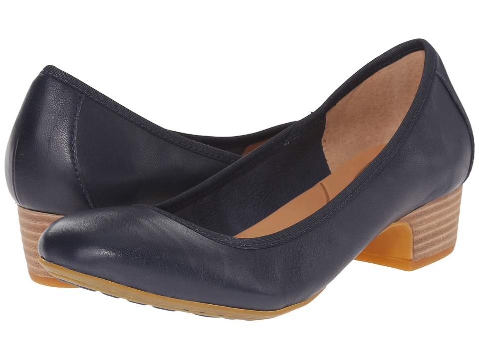Born - Viviette (Navy Full Grain Leather) Women's 1-2 inch heel Shoes
