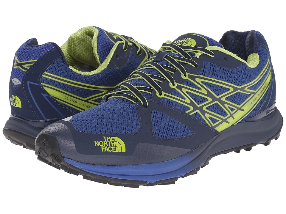 The North Face - Ultra Cardiac (Cosmic Blue/Macaw Green) Men's Running Shoes