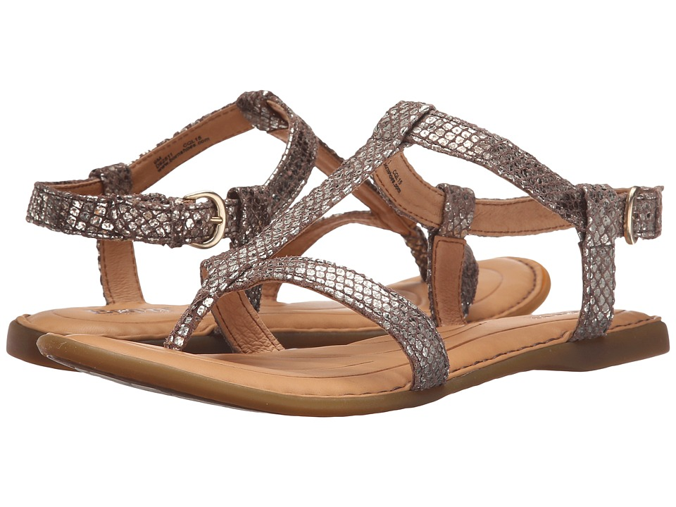 Born - Idina (Ivory Snake Metallic) Women's Sandals