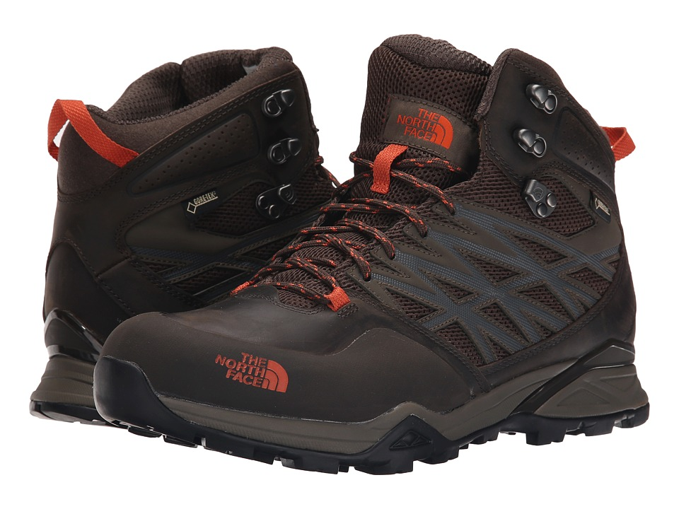 The North Face - Hedgehog Hike Mid GTX (Morel Brown/Orange Rust) Men's Hiking Boots