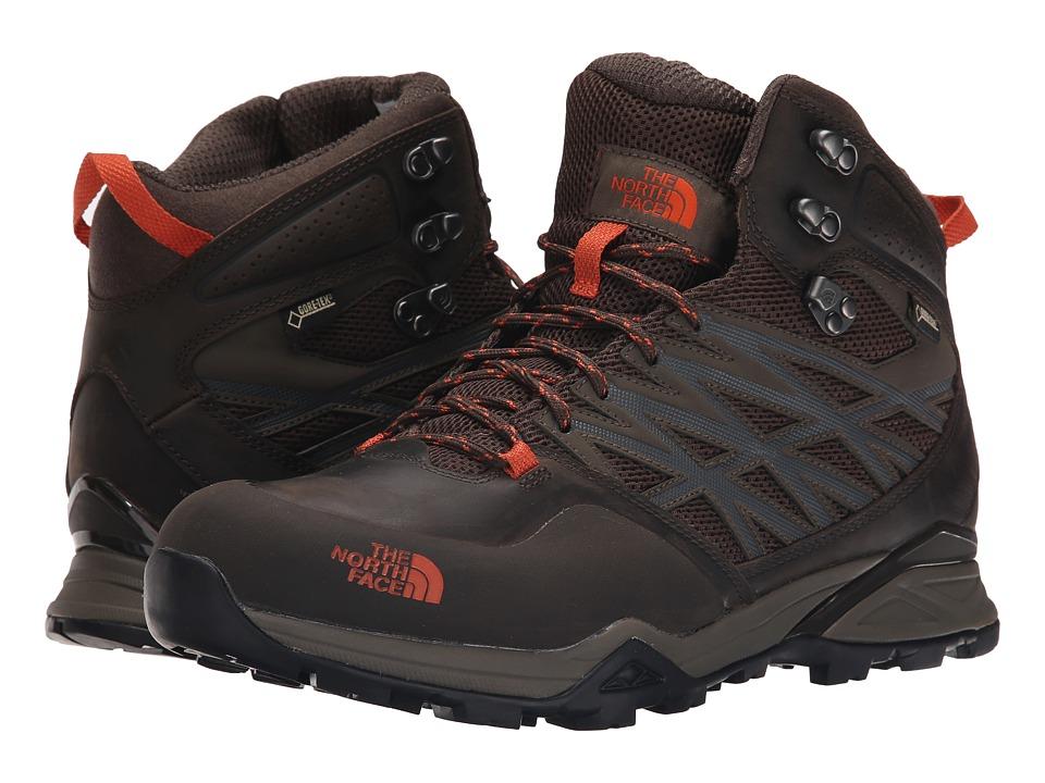 The North Face Hedgehog Hike Mid GTX(r) (Morel Brown/Orange Rust (Prior Season)) Men