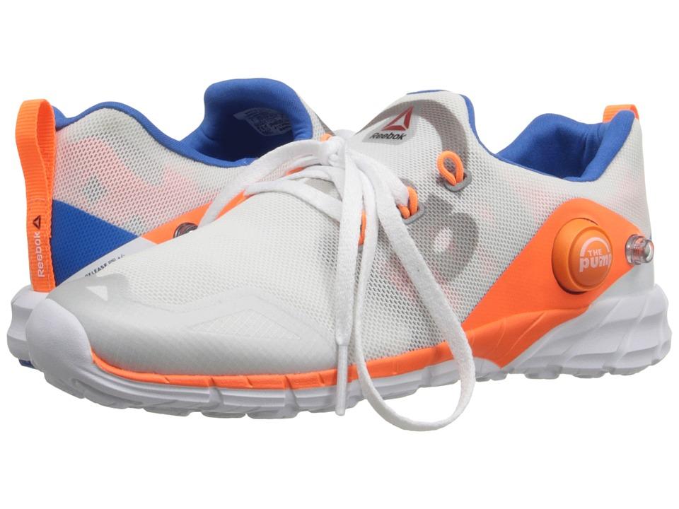 Reebok Kids - ZPump Fusion 2.0 (Little Kid/Big Kid) (White/Opal/Tin Grey/Electric Peach/Blue Sport) Boys Shoes