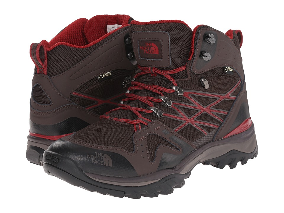 The North Face - Hedgehog Fastpack Mid GTX (Mulch Brown/Biking Red) Men's Hiking Boots