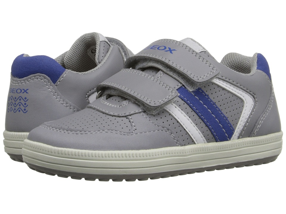 Geox Kids - Jr Vita 29 (Toddler/Little Kid) (Grey/Royal) Boy's Shoes