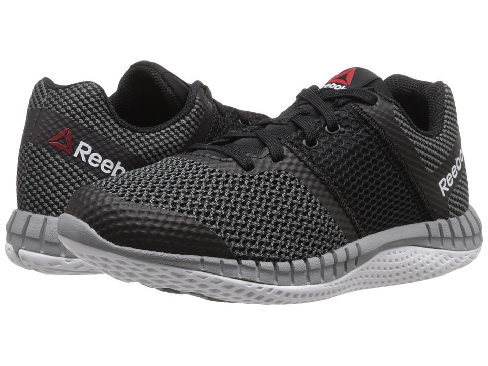 Reebok Kids - Zprint Run (Big Kid) (Black/Gravel/Tin Grey/Black Reflective/White) Boys Shoes