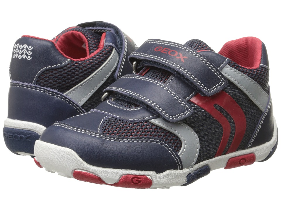 Geox Kids - Baby Balu Boy 52 (Infant/Toddler) (Navy/Red) Boy's Shoes