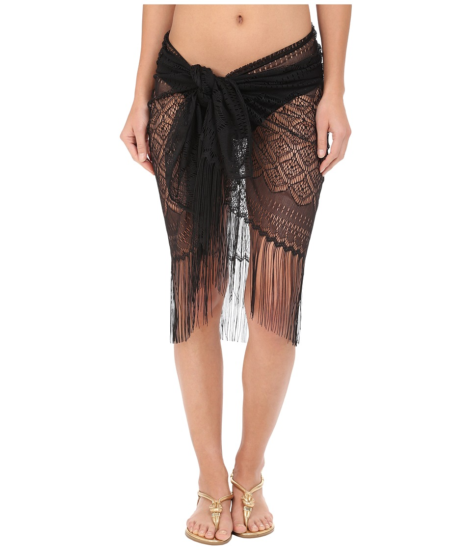 Miraclesuit - Laser Quest Crochet Sarong Cover-Up (Black) Women's Swimwear