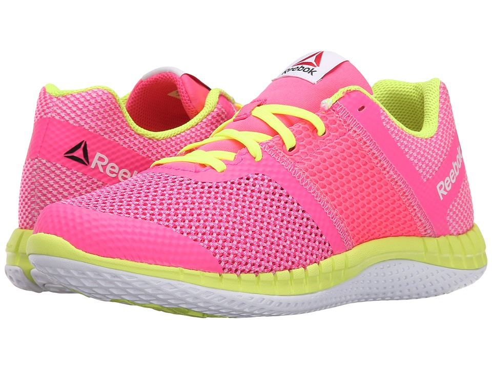 Reebok Kids - Zprint Run (Big Kid) (Solar Pink/Icono Pink/Solar Yellow/White) Girls Shoes